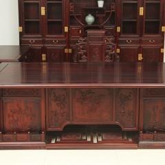 花枝(巴里黄檀)2.8米书桌两件套