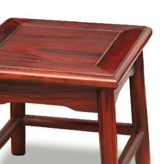 花枝巴里黄檀国标红木红酸枝小四方凳单件家用