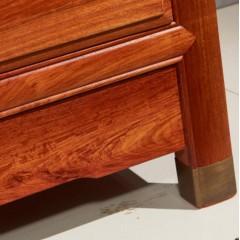 缅甸花梨素面顶箱柜   卧室系列