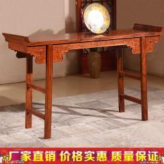 红木花梨原木刺猬紫檀翘头雕花无抽条案实木中式供桌1.2m